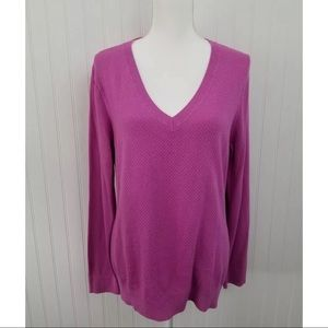 Izod Sweaters - IZOD Orchid Vneck Long Sleeved Sweater Women's